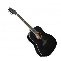 Акустична китара за левичари STAGG SA35 DS-BK