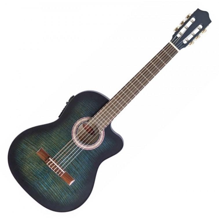Класическа китара озвучена STAGG C546TCE-BLS – с активна електроника