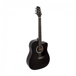 Китара черен акустичен STAGG SW201CW BKS