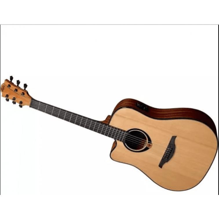 Електро-акустична китара за левичари LAG TL80DCE