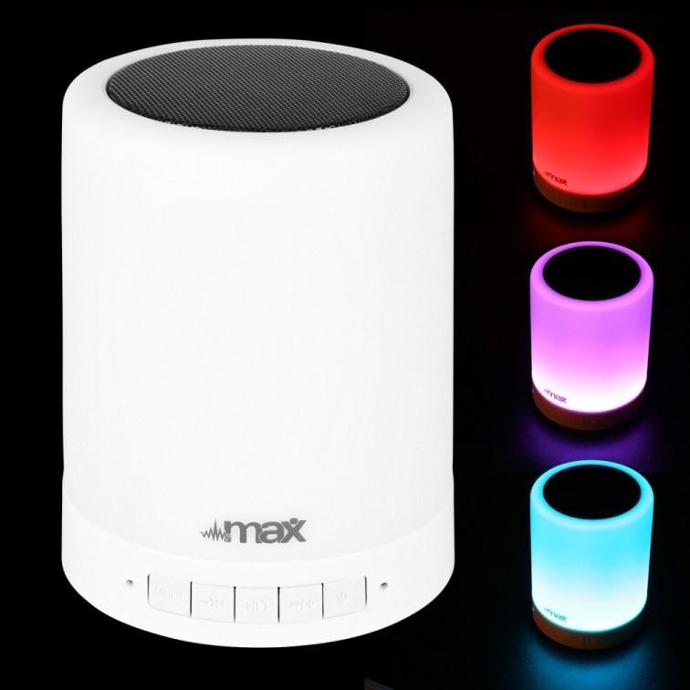 LED цветна лампа с вградена тонколона MAXTONE