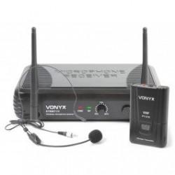 Безжичен микрофон за глава STWM711H - хед сет 1 канален VHF