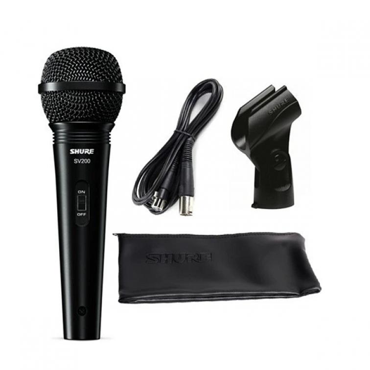 Mикрофон динамичен Шуър SV-200A с кабел, държач и калъф