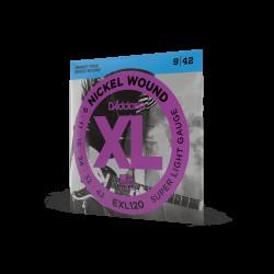 Струни за електрическа китара D`ADDARIO EXL120 XL SUPER LIGHT