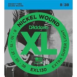 Струни за електрическа китара D`ADDARIO EXL130 XL EXTRA SUPER LIGHT