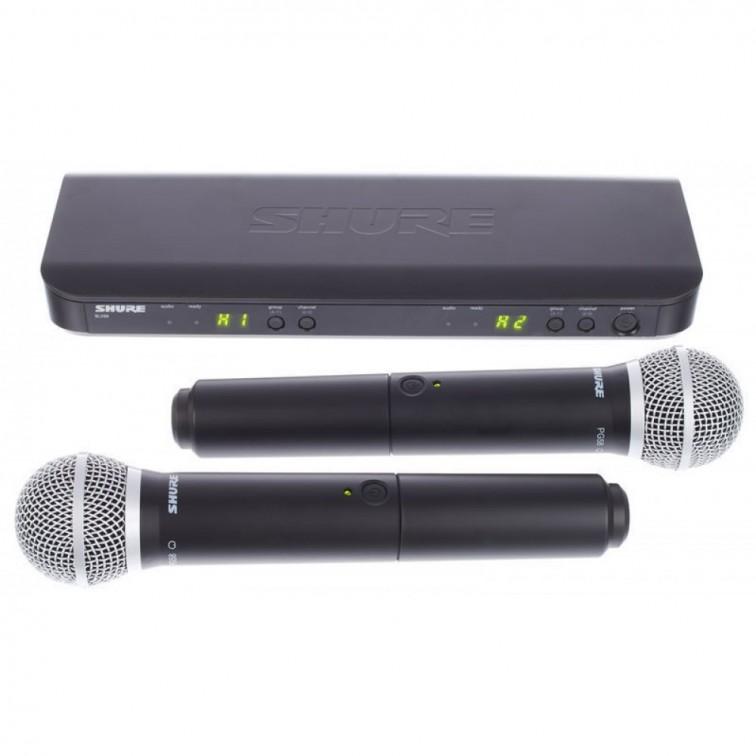 Безжичен микрофон двоен BLX288E/PG58 by SHURE