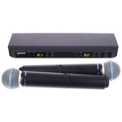 Безжичен вокален микрофон BLX288E/B58 двоен by SHURE