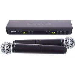 Вокален безжичен микрофон BLX288E/SM58 двоен by SHURE