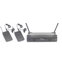 Двоен микрофон SUW50 LL-EG-UHF 863.8 - 864.5 безжичен брошка