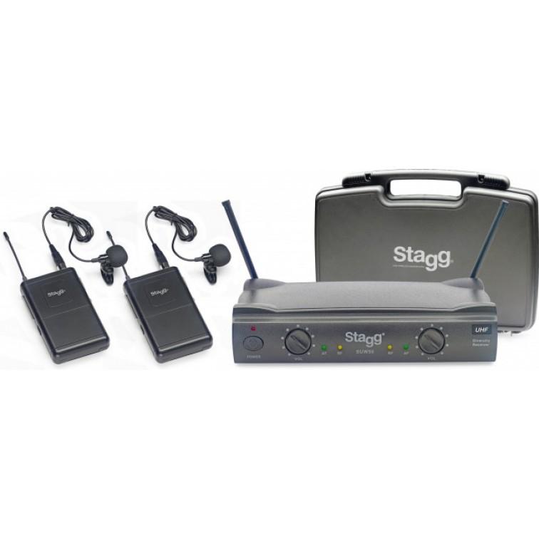 Двоен безжичен микрофон щипка / тип брошка SUW50 LL-FH-UHF-864.2 - 864.7 - wireles 2 Lavalier