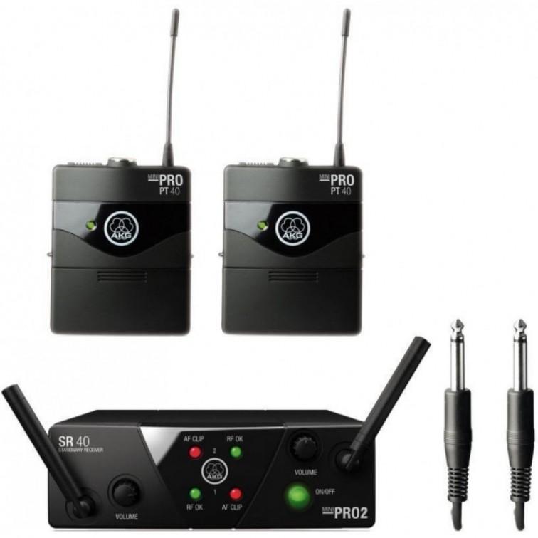 Двоен безжичен инструментален микрофон AKG WMS40 MINI2 INSTRUMENTAL