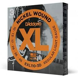 Струни за електрическа китара D`ADDARIO EXL110 3D PACK OF 3 SETS XL