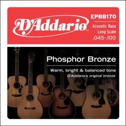Струни за акустична бас китара D`ADDARIO EPBB170 4STR SET FOR ACOU BASS