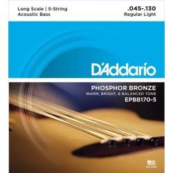 Струни за акустична бас китара D`ADDARIO EPBB170 5 5STR