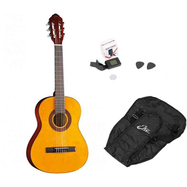 Акустична китара 3/4 EKO CS5 NT + калъф, тунер и перца