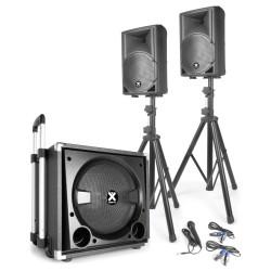 Тонколони активни комплект VX840BT със стойки и кабели с Blouetooth USB MP3 Player със субуфер