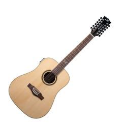 12 струнна електро-акустична китара Еко NXT D100E XII NATURAL