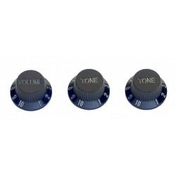 Бутони за електрическа китара SP-KNST-BLK 3 бр.