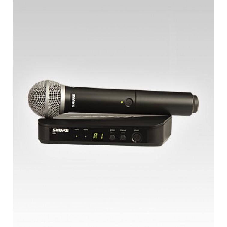 Вокален микрофон и безжична система на SHURE BLX24E/PG58-K3E