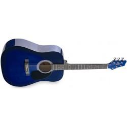 Акустична китара син Dreadnought – STAGG SW201BLS