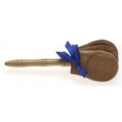 Кастанети дървени с дръжка / CAS-N