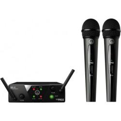 Безжичен двоен вокален микрофон AKG  WMS40 MINI DUALVOCAL SET DUAL