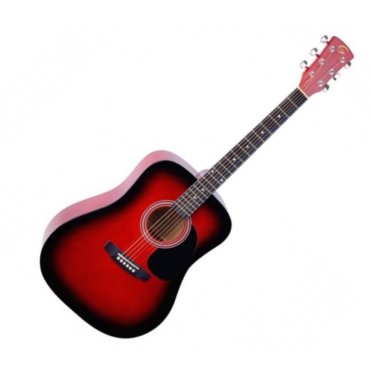 Китара червен акустичен YOSEMITE-DN-RDS