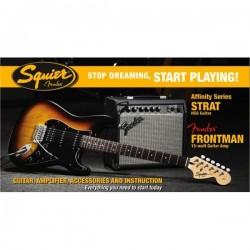Комплект китара, комбо, аксесоари SQUIER STRAT HSS BSB 15G