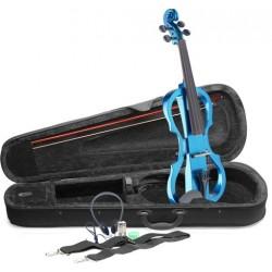Синя електрическа цигулка STAGG EVN X-4/4 MBL