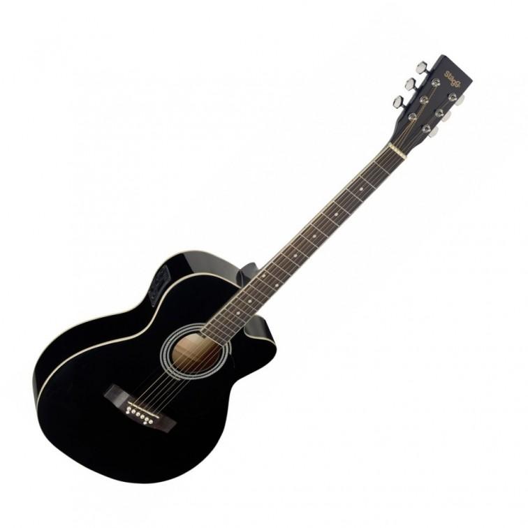 Електро-акустична китара черен STAGG SA20ACE BLK