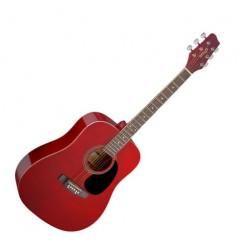 Акустична китара син Stagg SA20D RED