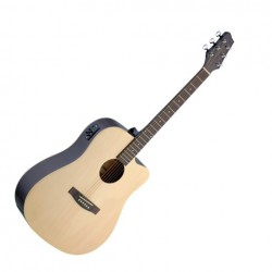 Електро-акустична китара – SA30DCE-N – Stagg натурален цвят