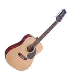 Акустична китара естествен цвят 12 струни – SA40D/12-N