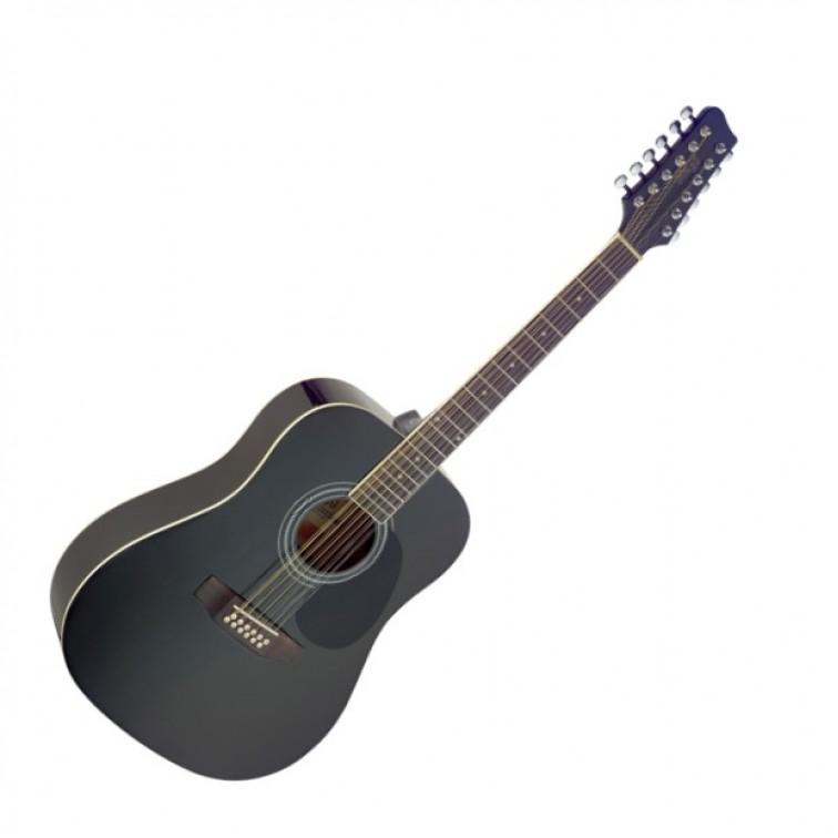 Акустична китара черна 12 струни – STAGG SA40D/12-BK