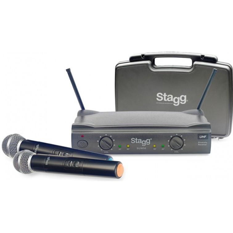 Безжичен двоен микрофон STAGG SUW50 MM EG EU