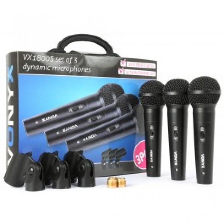 Три динамични кабелни микрофона Tronios
