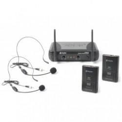 Двоен хедсет безжичен микрофон Tronios STWM712H