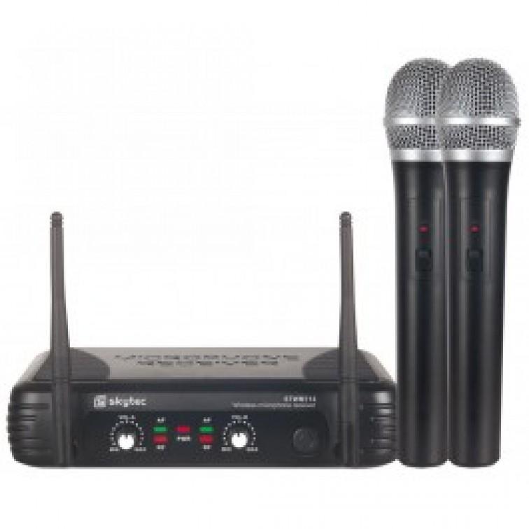 Двоен вокален безжичен микрофон Tronios STWM712