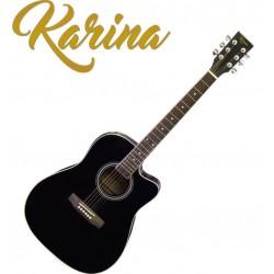 """Черна китара електро-акустика – Karina FG229-CEQ 41"""""""