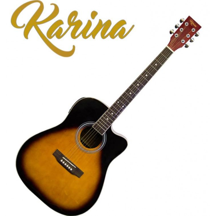 "Китара електро-акустична – Karina FG229-CEQ 41"" Sunburst"