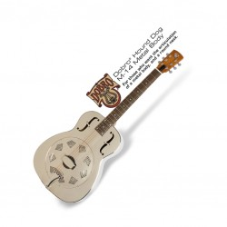 Китара с метално тяло Epiphone Dobro Hound Dog M-14 Metal Body
