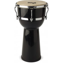 "ДЖЕМБЕ 8"" FIBRE GLASS DJEMBE BLACK STAGG DPY-8 BK"