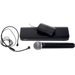 Безжичен микрофон комбиниран дръжка и диадема - headset SHURE BLX1288E/P31