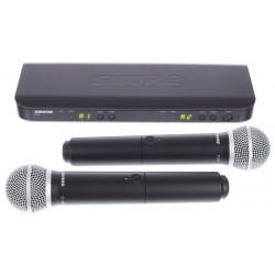 Безжичен микрофон, вокален, двоен - BLX288E/PG58