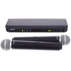 Безжичен микрофон двоен, вокален - BLX288E/SM58