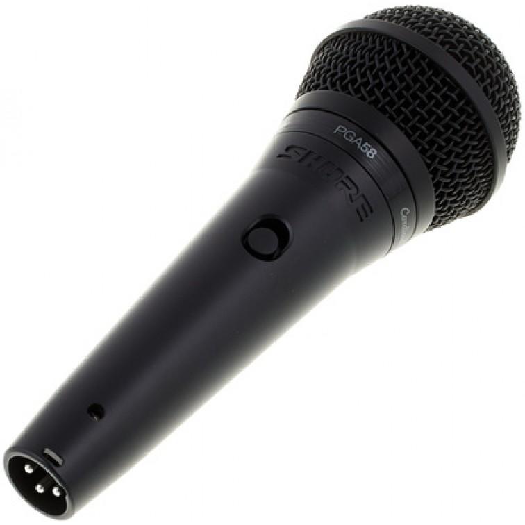 Вокален динамичен микрофон, черен SHURE PGA58-XLR