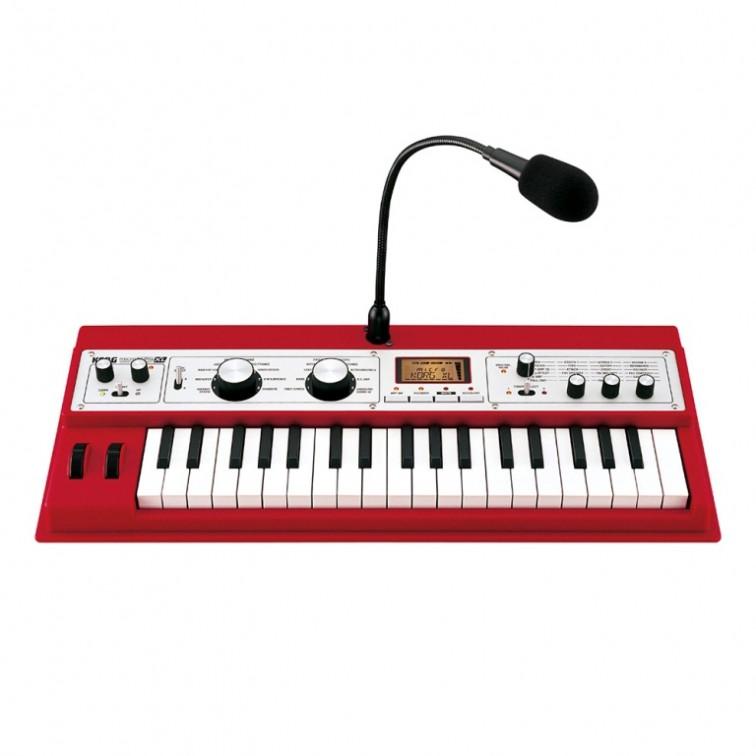 Червен синтезатор KORG MicroKorg XL-RD