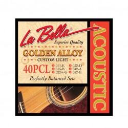 Струни за акустична китара La Bella 40PCL CSTM-LITE