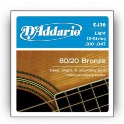 Струни за акустична китара D`addario EJ-36