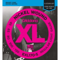 Струни за бас китара с пет струни EXL170-5